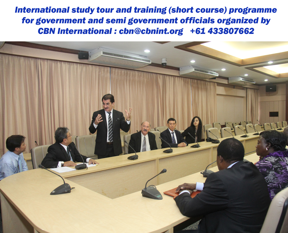 Dr. Behnam Tai, Managing Director CBN International with the other resource persons during a CBN International Study Tour and Training Programme on 'Public Sector Leadership, Planning and Management' held in Thailand