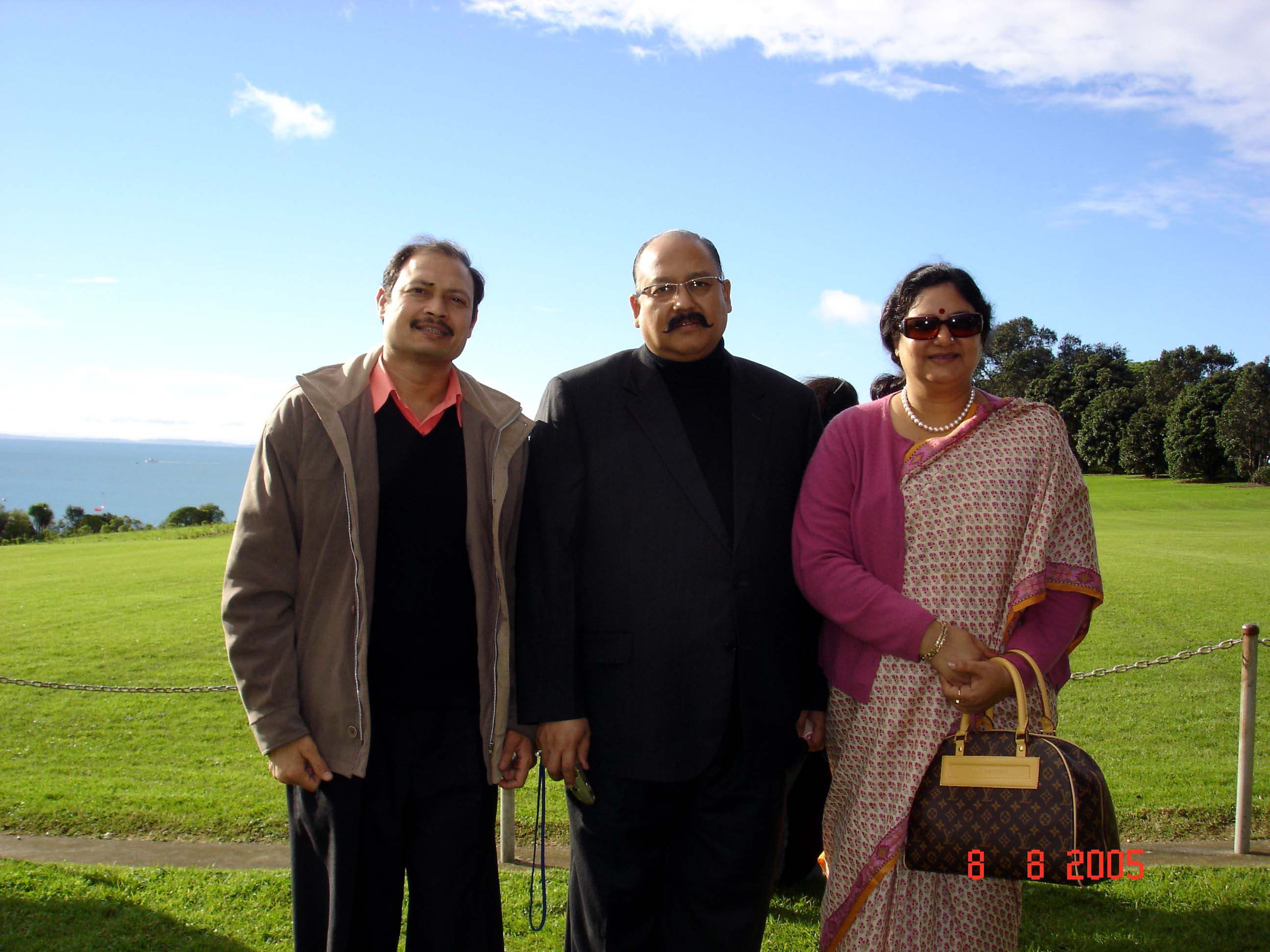 Distinguished participants during a field visit in New Zealand.