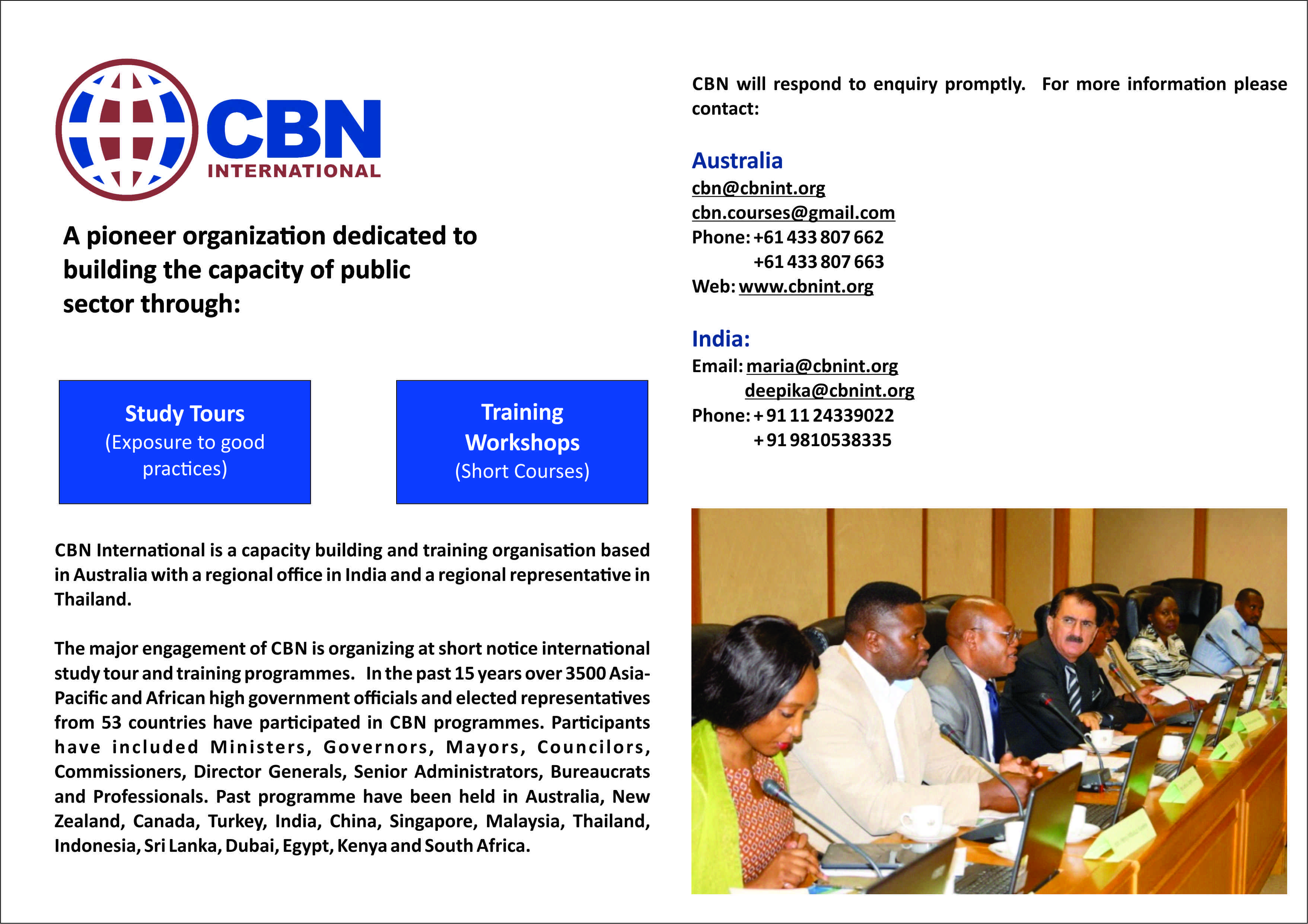 International Study Tour and Training programme organized by CBN International on Financing of Infrastructure and Provision of Basic Services in Dubai and Thailand