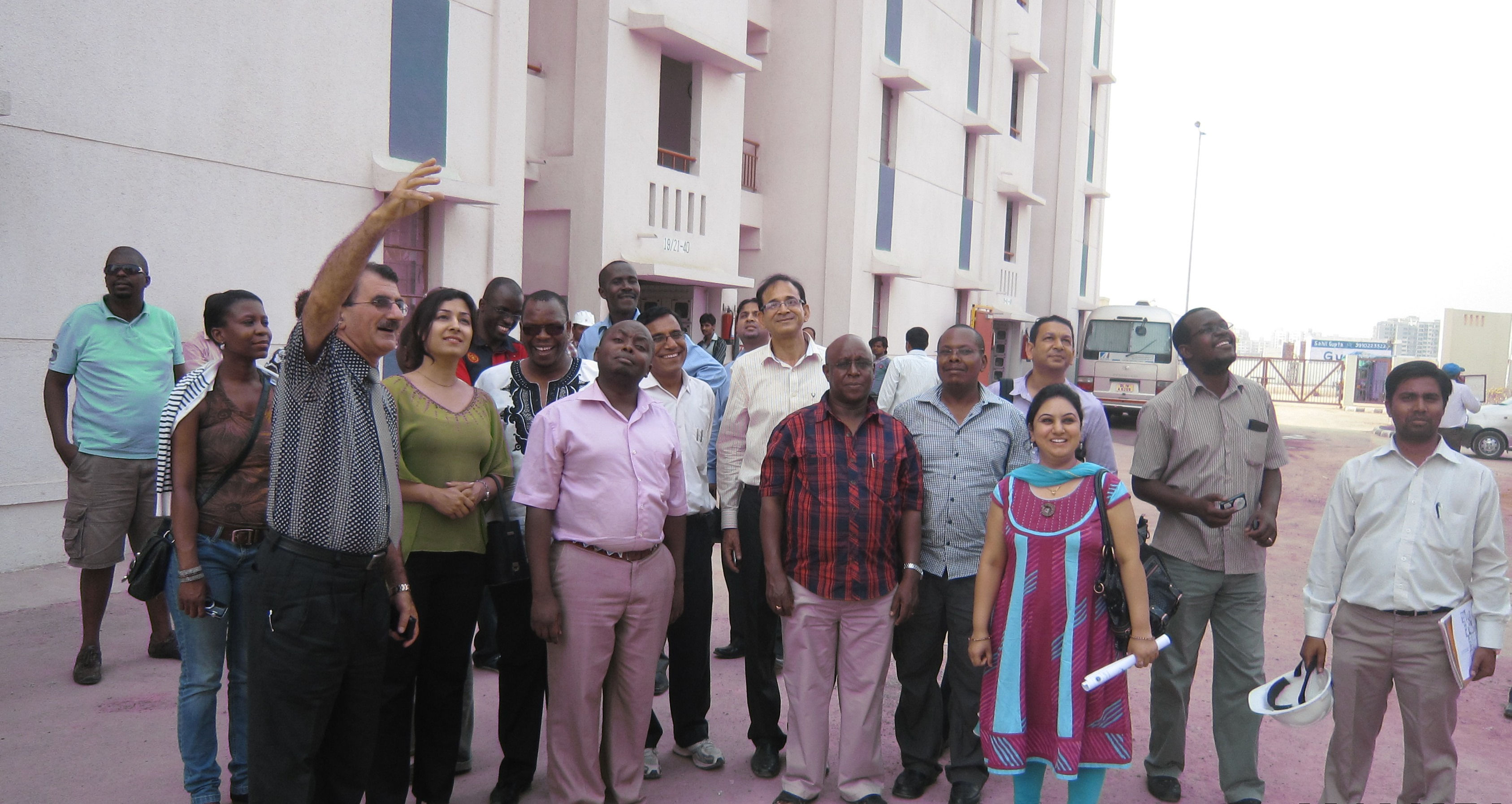 Participants of a workshop during field visit to Delhi Development Authority in India.
