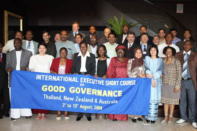 A group of participants during a CBN international training and study tour workshop held in Australia; short course on Good Governance series.