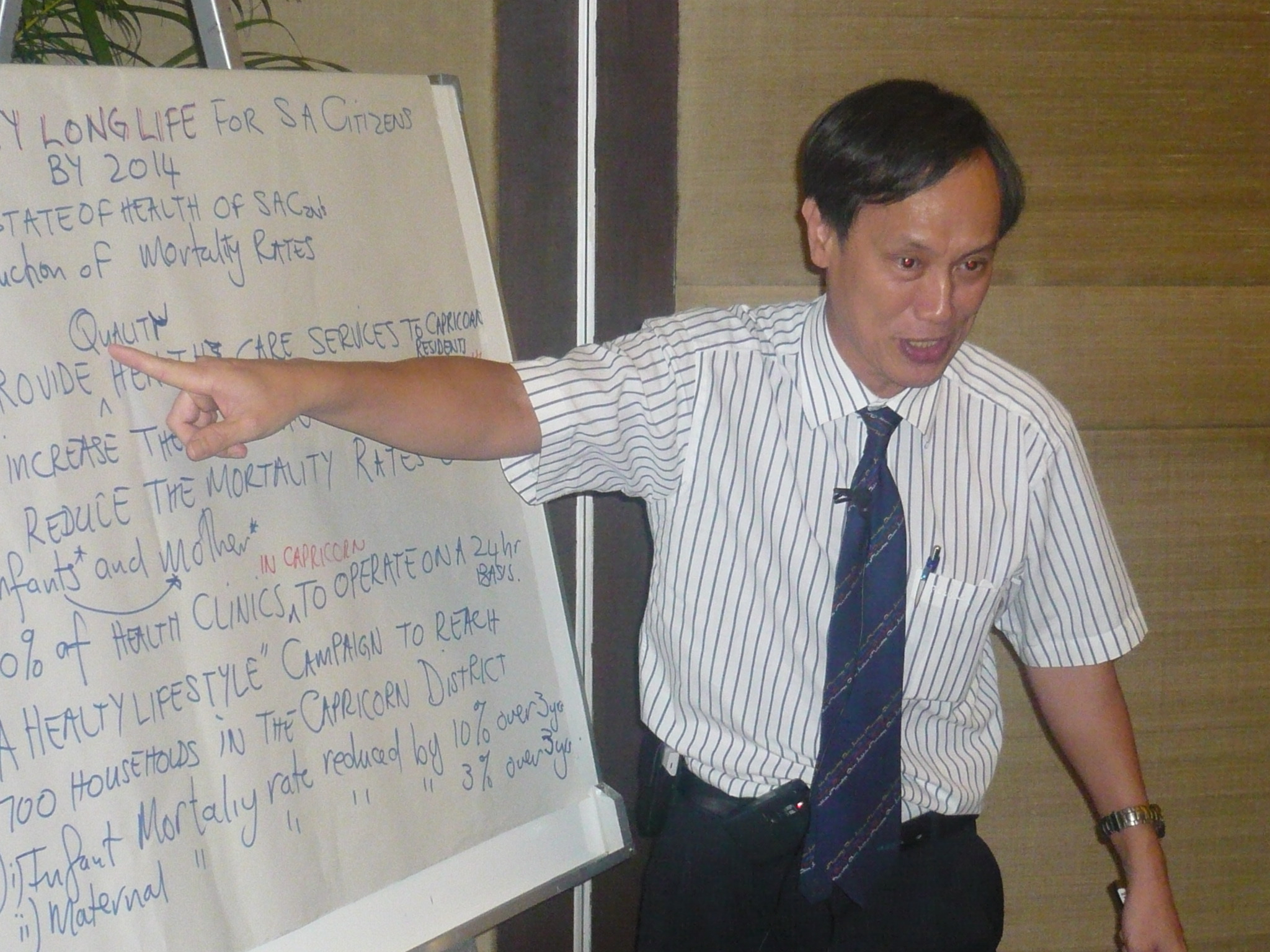 Dr. Do Ba Khang, CBN Resource Person presenting action plan in Bangkok, Thailand