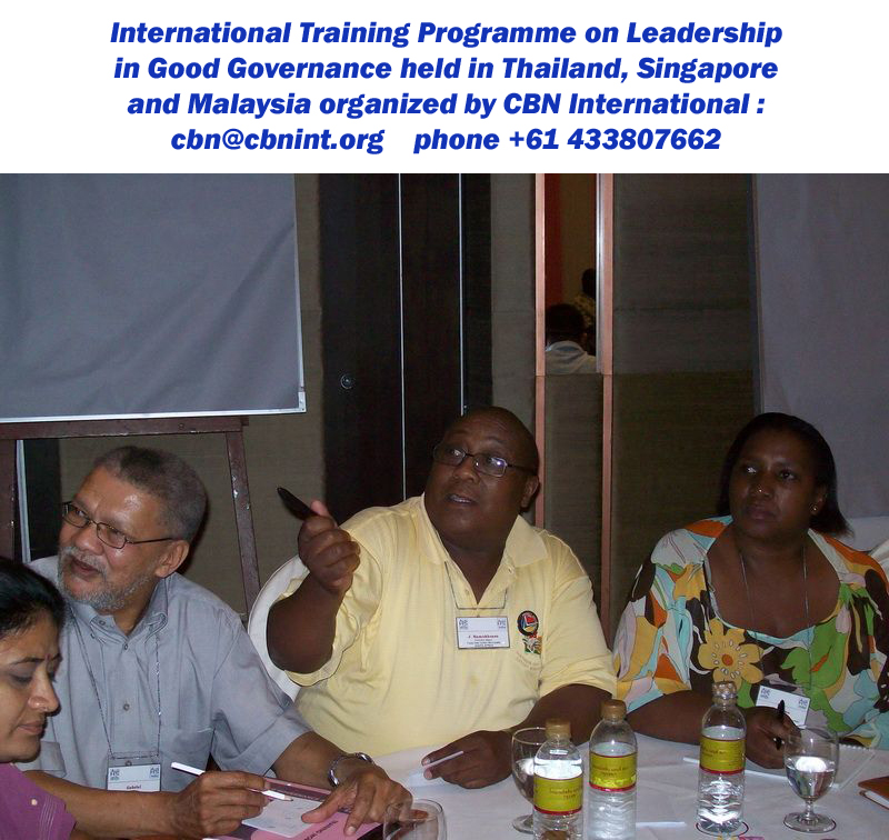 Distinguished participants from South Africa during a participatory session.