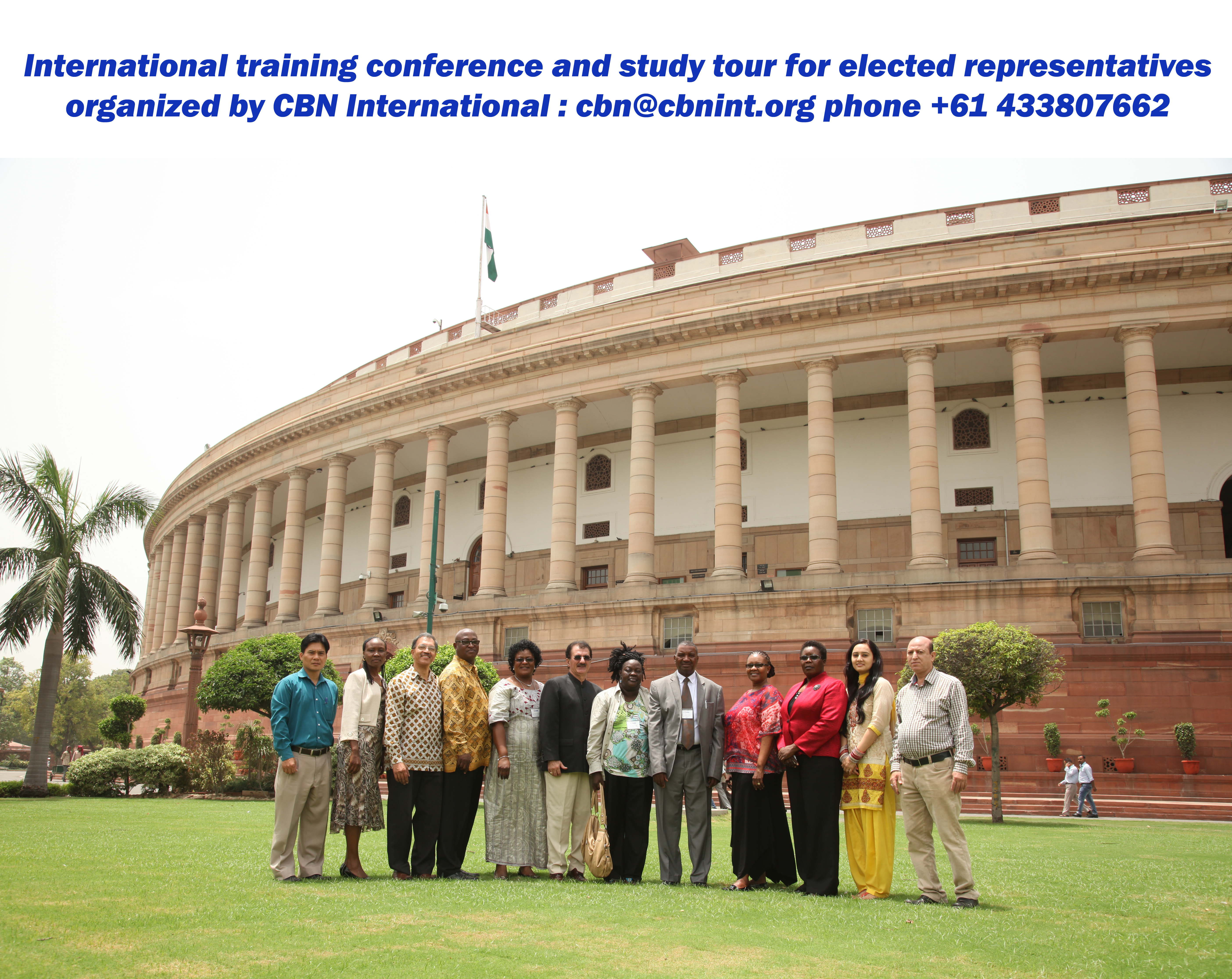 Dr. Behnam Tai with distinguished parlimentarians during International Study Tour and Training programme organized by CBN International on Parliamentary Practice and Procedures in New Delhi, India