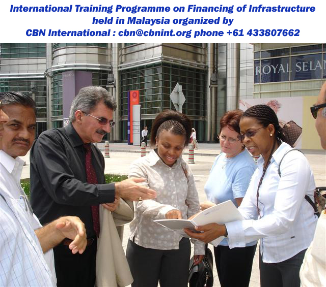 Behnam Tai, Programme Director with the distinguished participants from South Africa during a field visit of a CBN international training and study tour workshop held in Kuala Lumpur, Malaysia; short course on Good Governance series.