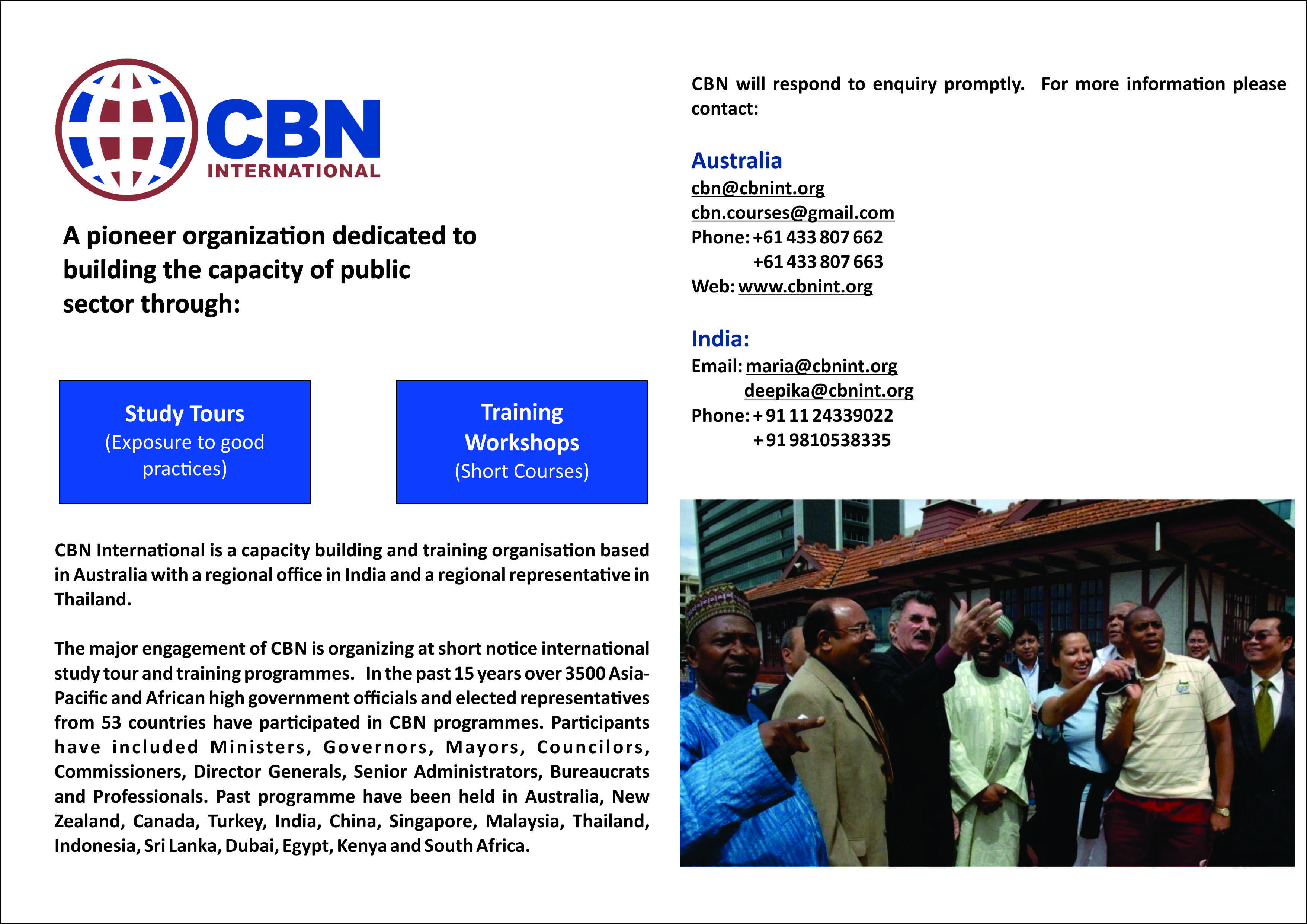 International Study Tour and Training programme organized by CBN International on Public Private Partnership in Kuala Lumpur, Malaysia
