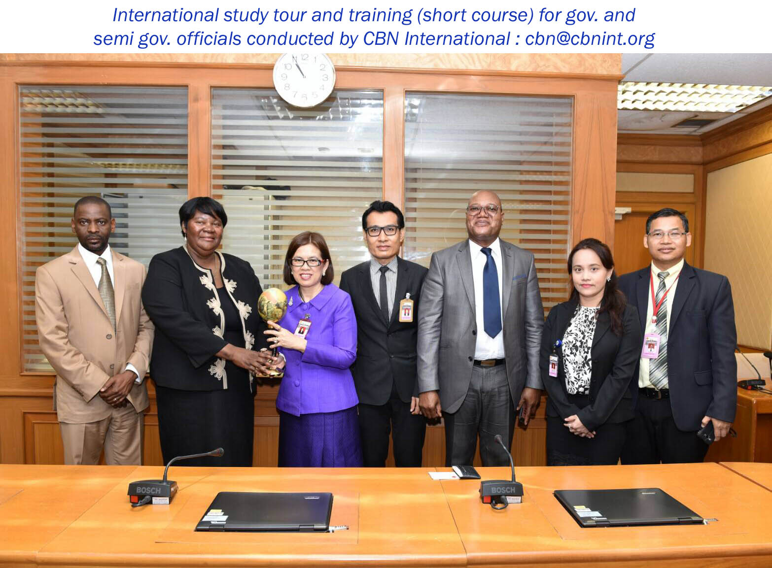 A group of participants during a CBN international training and study tour workshop held in Dubai and Thailand; study tour on Good Governance series.