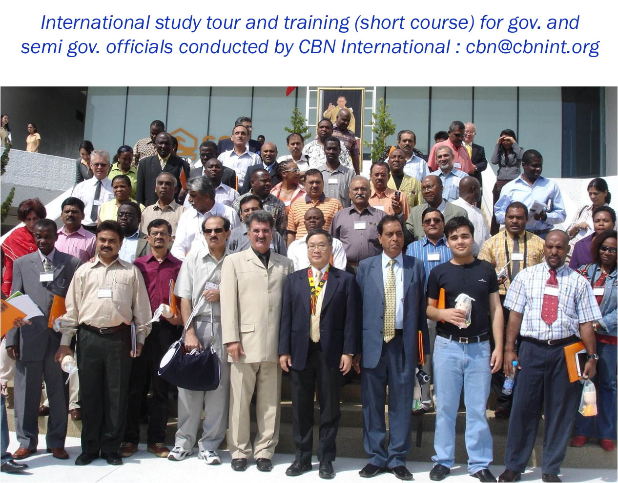 A group of participants during a CBN international training and study tour workshop held in Bangkok, Thailand; short course on Good Governance series.