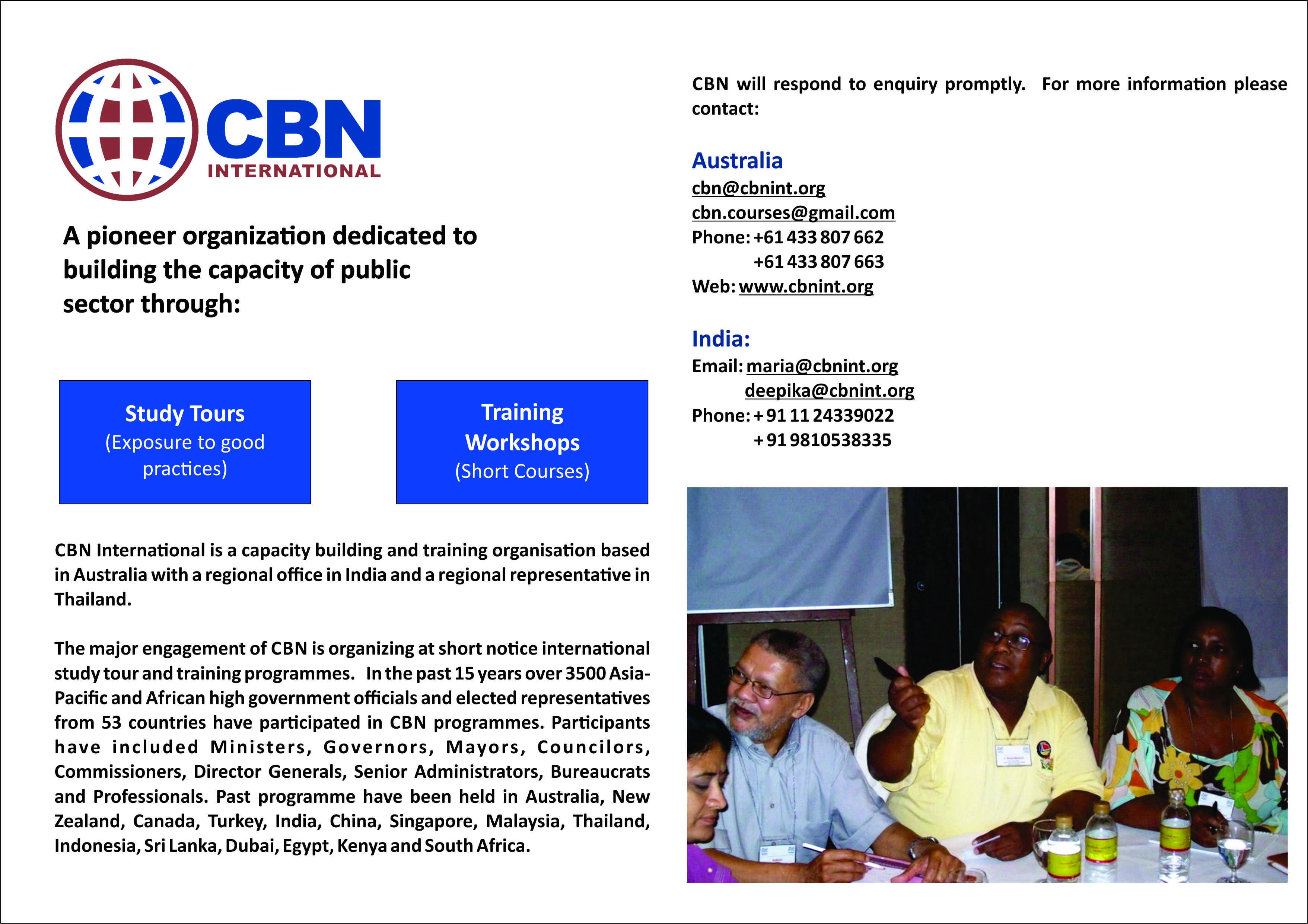 International Study Tour and Training programme organized by CBN International on Local Government in Bangkok, Thailand