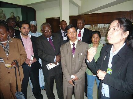 Participants of a previous training workshop during a site visit.