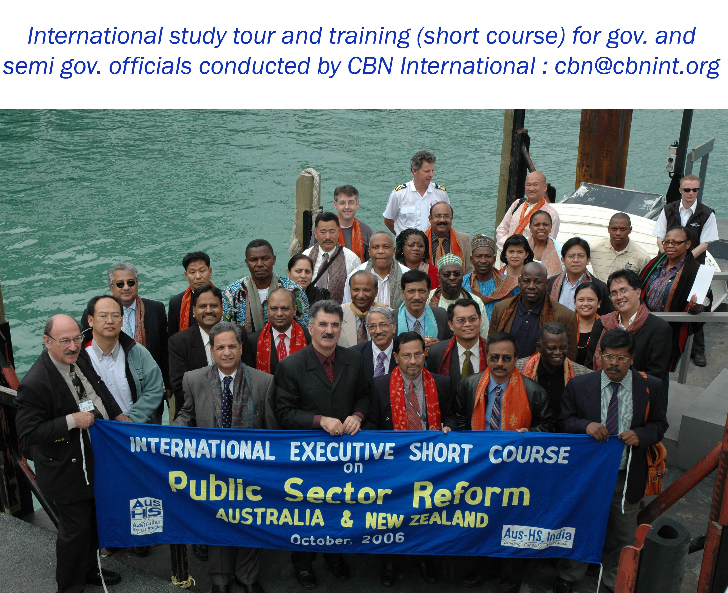 A group of participants during a CBN international training and study tour workshop held in Australia and New Zealand; short course on Good Governance series.