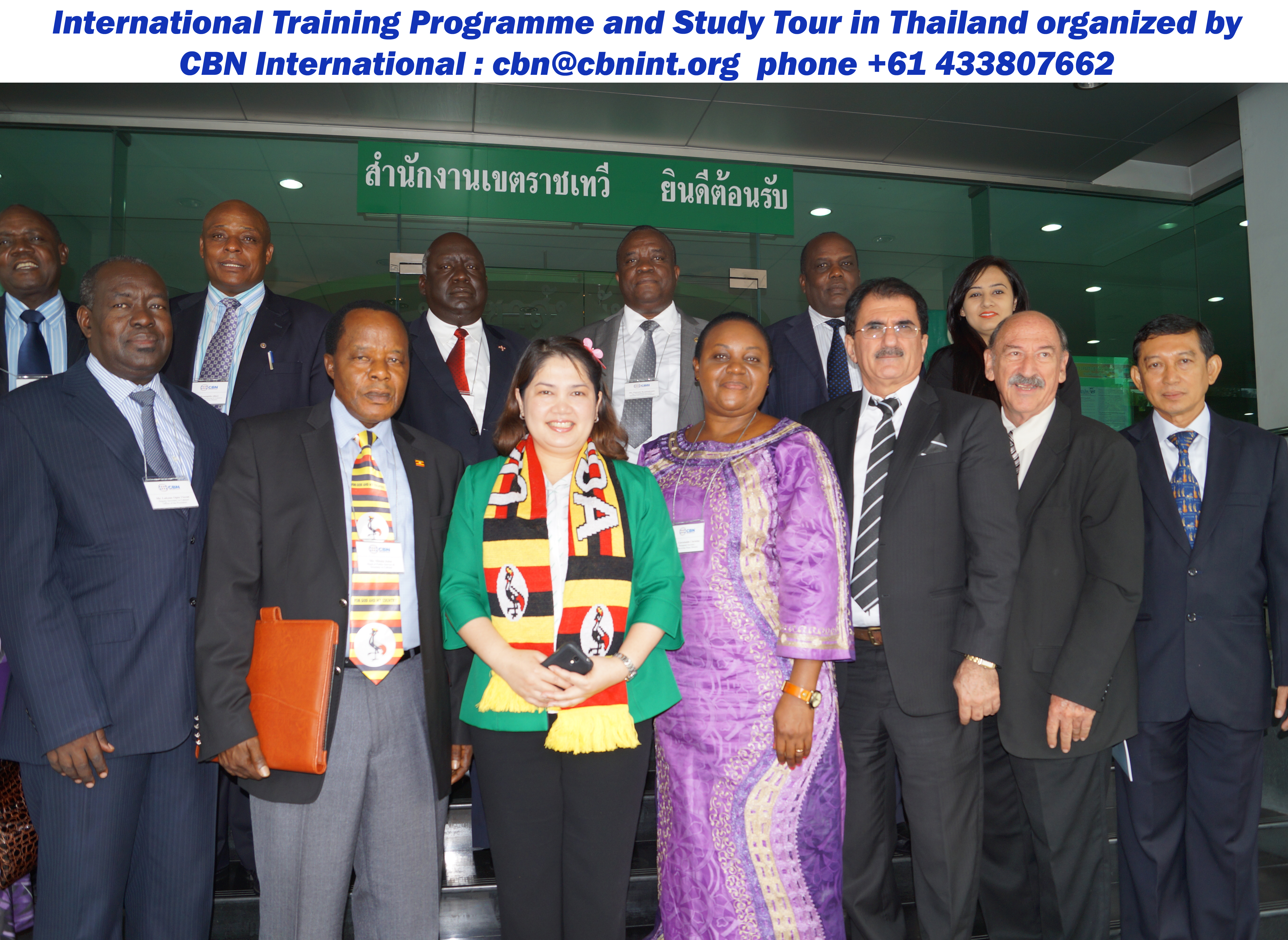 "Dr. Behnam Tai, Managing Director of CBN International with the distinguished participants at Office of the Prime Minister, Thailand during a Study Tour and Training Programme on ""Good Governance for Effective Delivery of Services"" held in Dubai and Thailand"