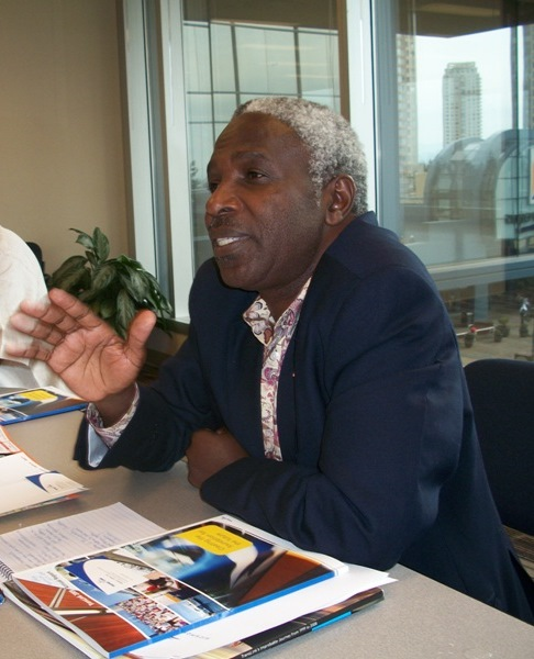 Hon. Christopher K. Chiza, Deputy Minister of Water and Irrigation, Tanzania during an interaction session in Canada