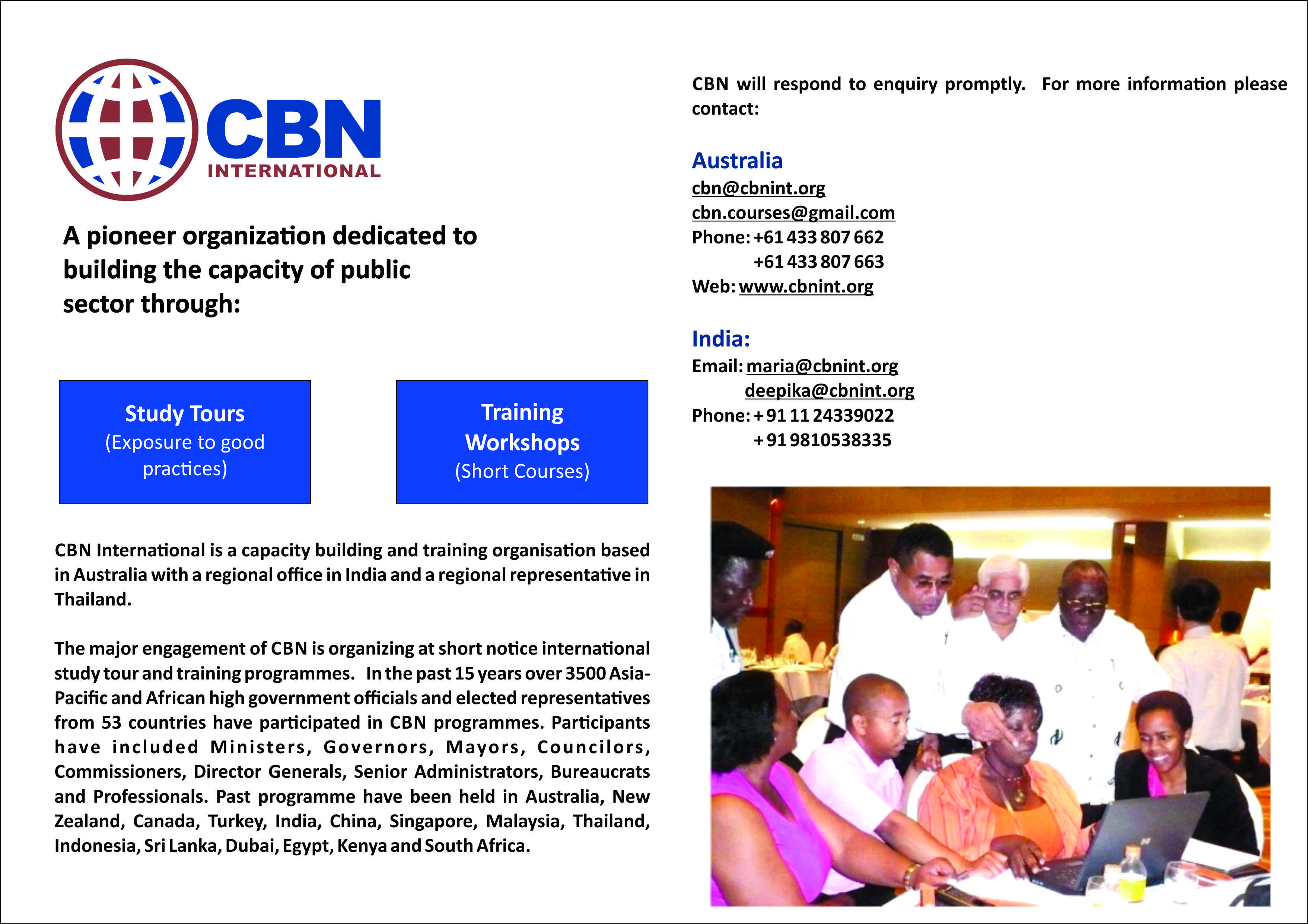 International Study Tour and Training programme organized by CBN International on Public Sector Leadership in Bangkok, Thailand