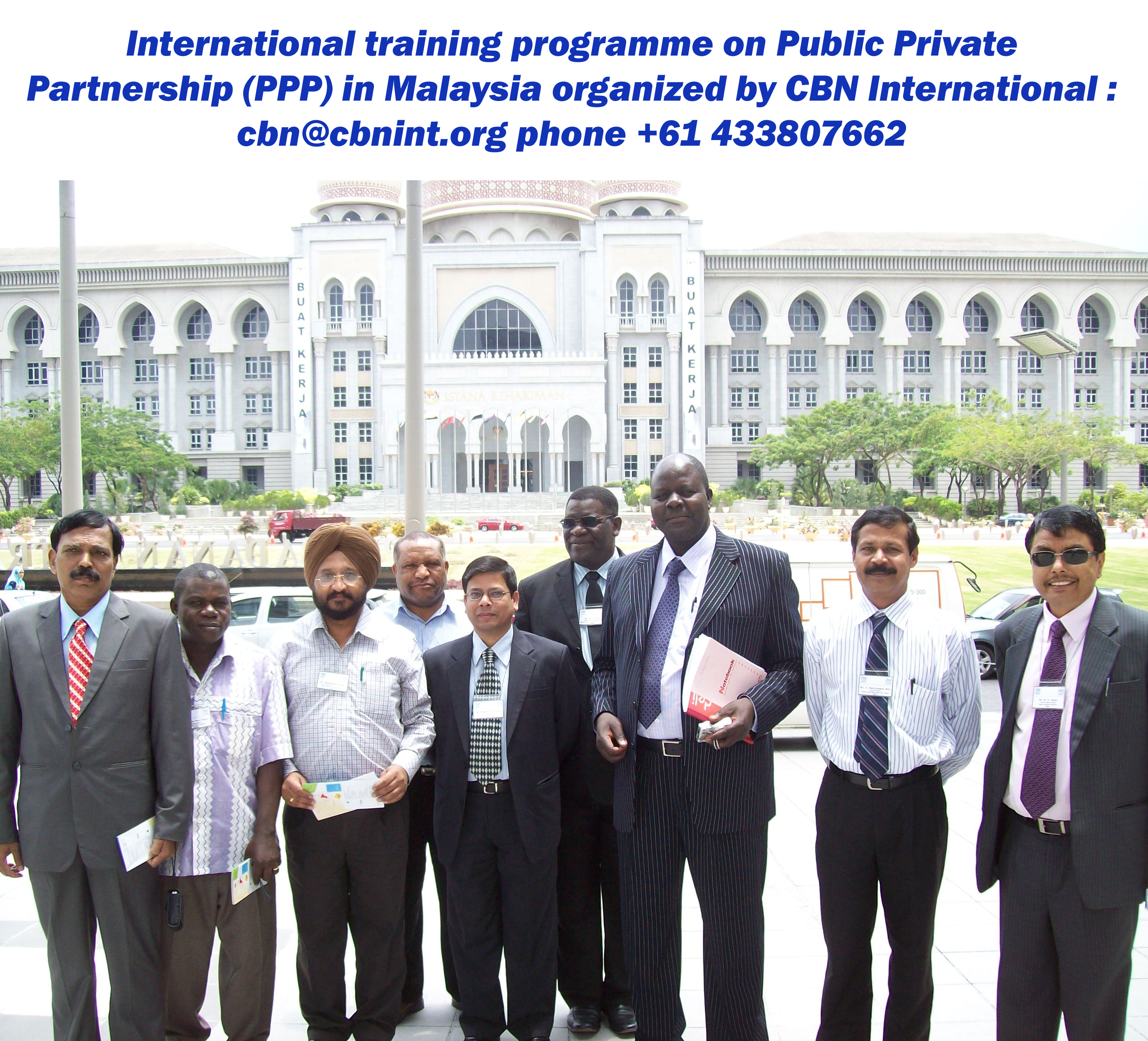 A field visit of a CBN International training and study tour workshop held in Malaysia; short course on Good Governance series.