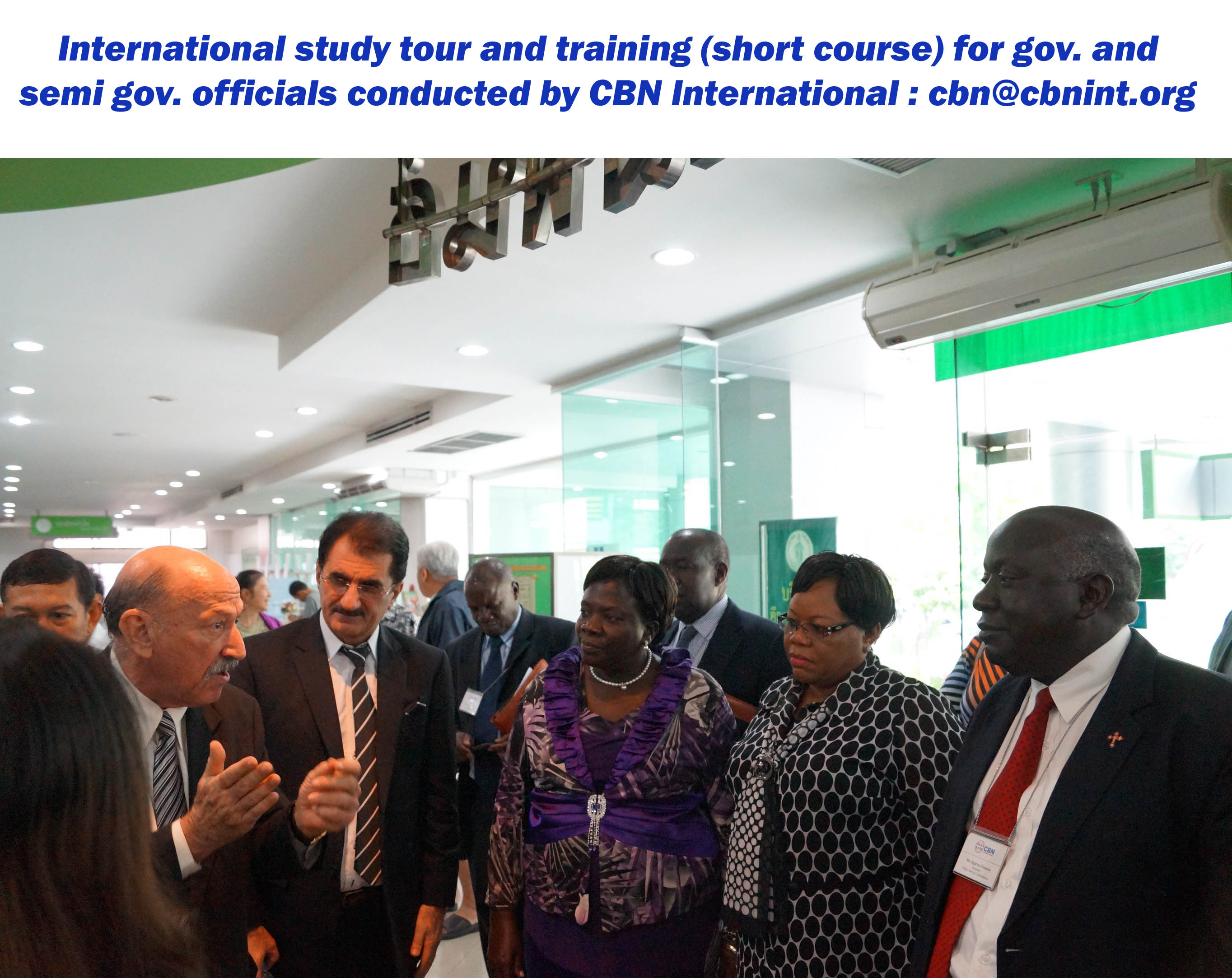 Mr. Victor Greenspoon, CBN resource person in Thailand briefing the participants from Uganda during a CBN International training and study tour programme.